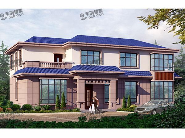 广西农村住房设计图,开间16x进深11米的尺寸,占地面积150平方米造价20多万,经济实惠的二层小别墅楼