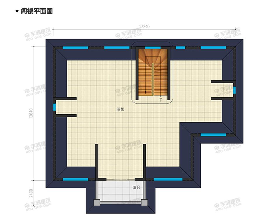 220平带神龛三层农村别墅设计效果图