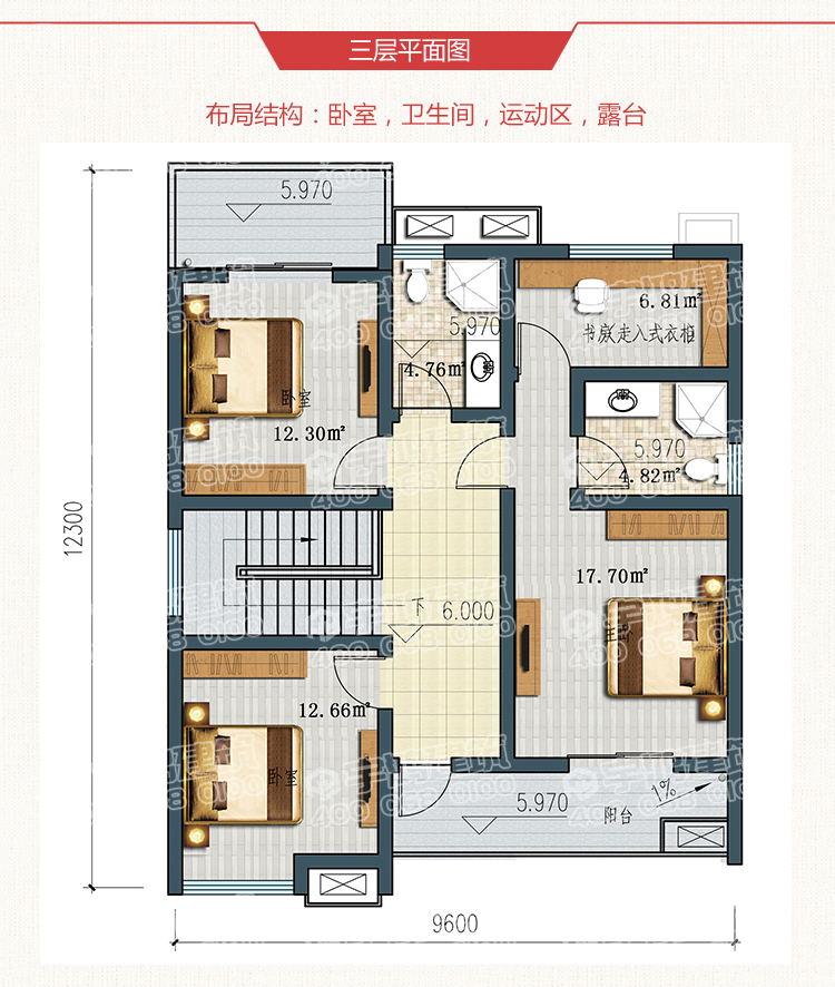 169平米英式三层露台小别墅图