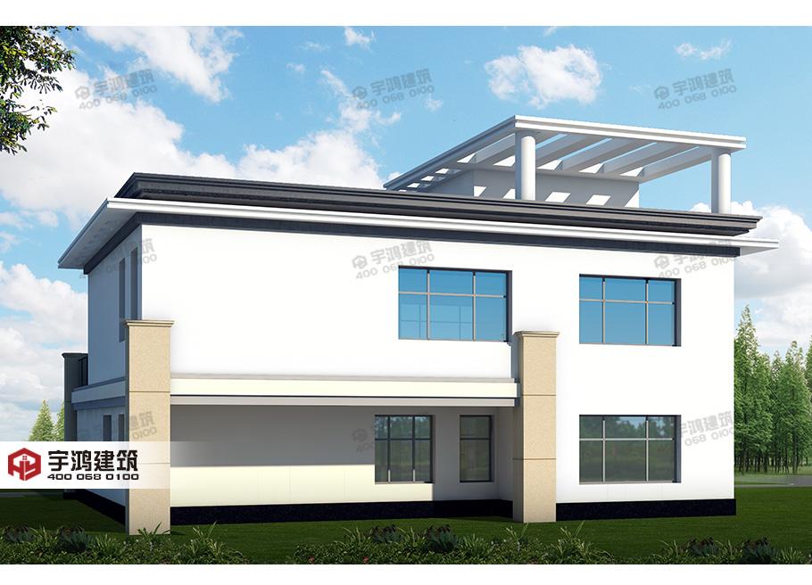 175平现代新农村复式小别墅设计图