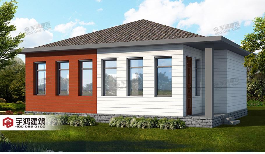 长10米宽8米房屋设计图,占地90平方米,别再说地小建不了好房了