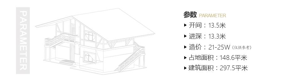 农村带神龛二层欧式小别墅设计图