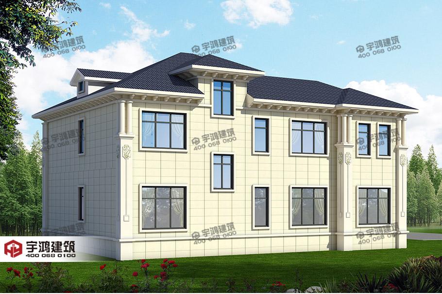 30万带车库两层欧式农村别墅设计图