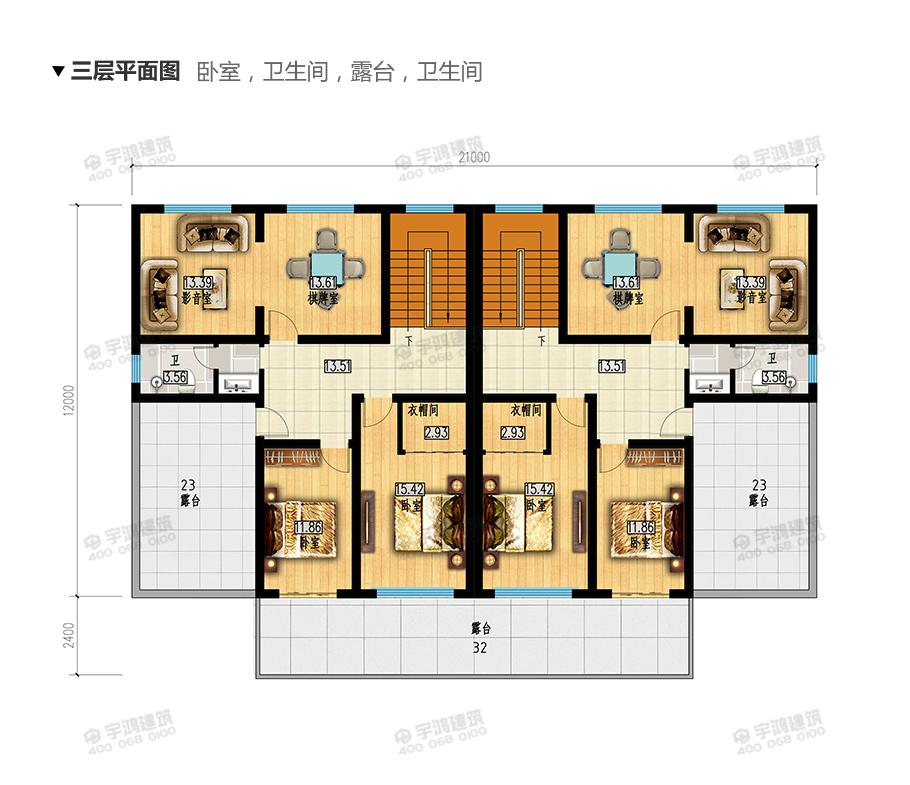 双拼三层别墅外观图,总毛坯造价90万左右,兄弟合建,家和万事兴,日子越过越红火