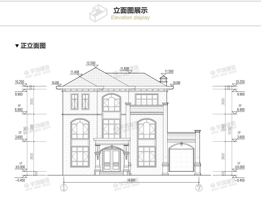 豪华大气新款农村带车库别墅设计图,引流自建房潮流