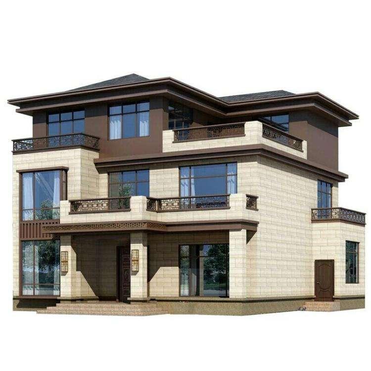 【注意】12x13米三层库欧式别墅,大气美观,适合农村自建房设计