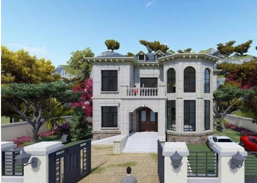 【二层别墅设计图】14x15米的二层别墅设计实景图,布局实用外观优美@你查看