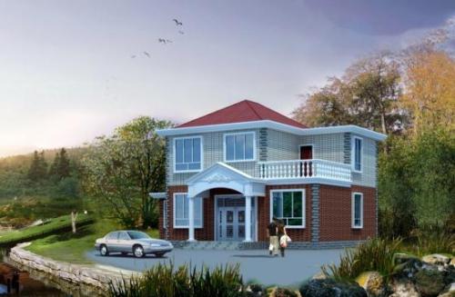 农村自建二层小别墅,美观舒适造价低!