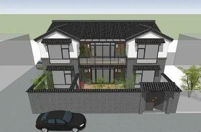 这样一栋完美漂亮的中式别墅设计图纸建出来一定是村里的地标!