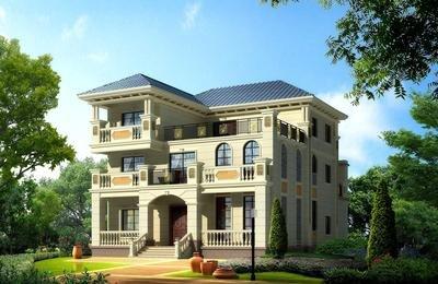简单的欧式别墅设计图纸,你要来一张吗?