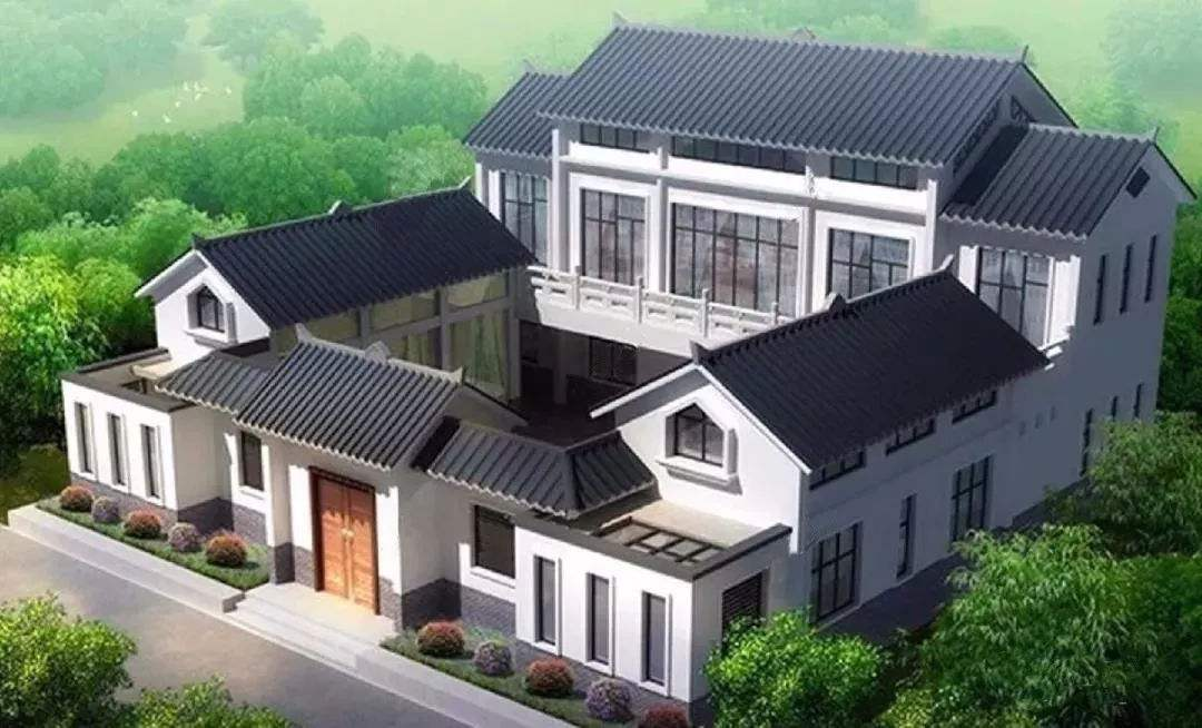 想要拥有朴素淡雅的庭院设计,也就只有中式别墅设计能做到了!