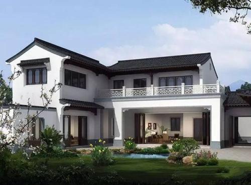 想从千篇一律的别墅群中脱颖而出?这款新中式别墅助你一臂之力!