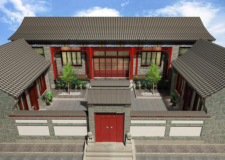 中式四合农村别墅你知道怎么修吗?这2款中式四合农村别墅施工案例推荐给你!