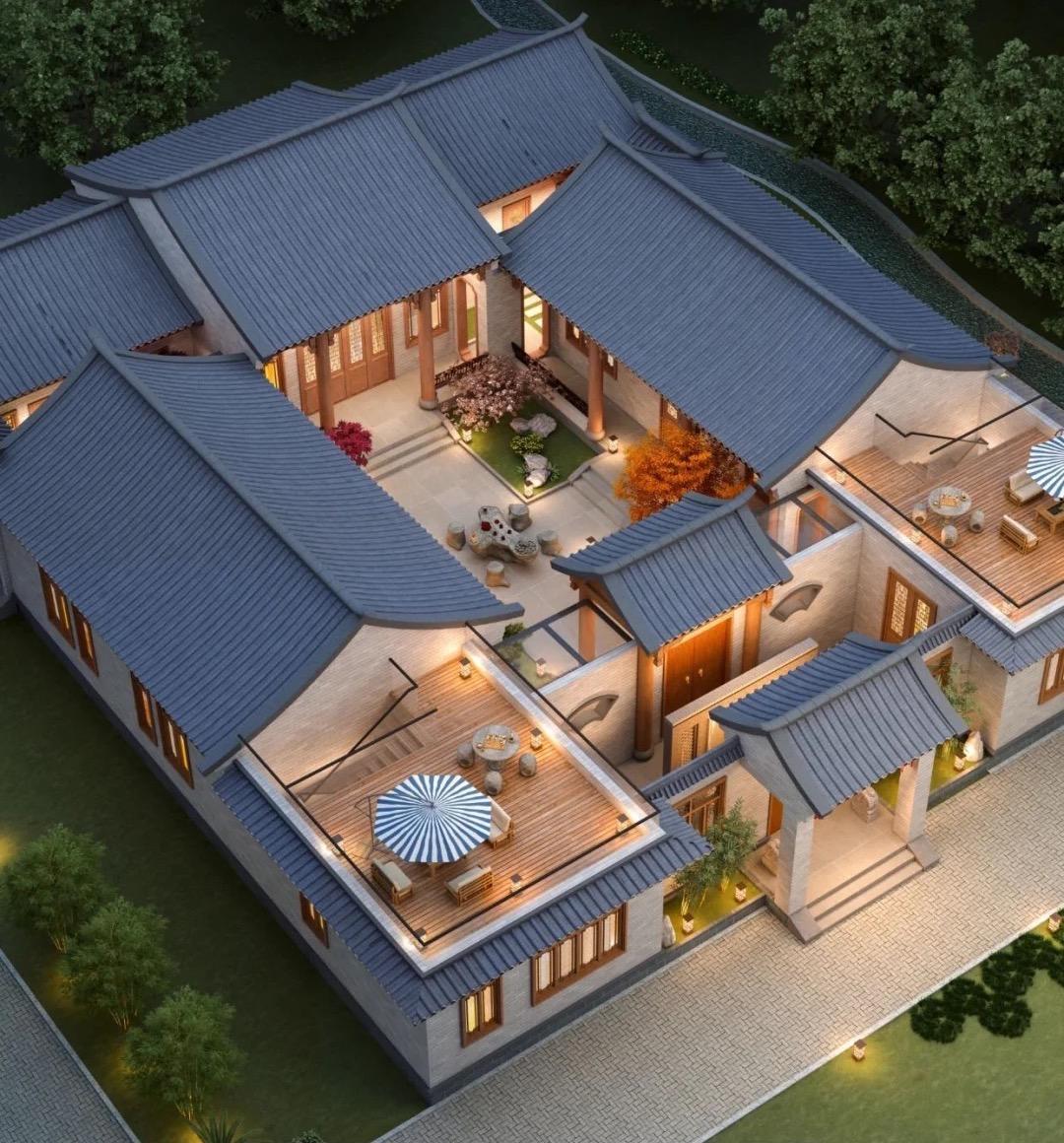 农村自建四合院如何设计,该如何选择装修风格