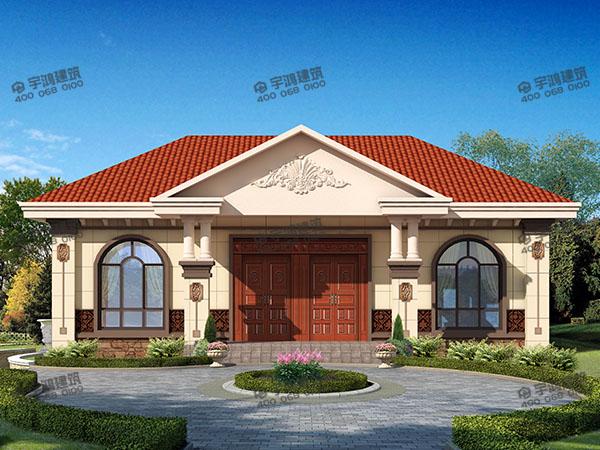 农村平房房屋设计图纸及效果图大全,一层别墅住一家人完全足够!