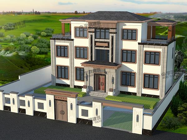 别墅围墙款式设计效果图片,别墅围墙高度建多少合适?