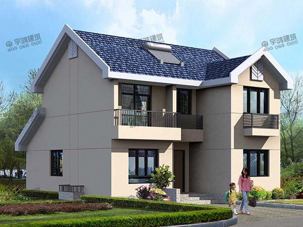 9米x10米农村别墅户型设计图,占地80平方米,真正的造价只要13万的二层小楼房