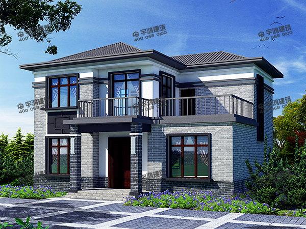 120平方米简欧农村小洋楼设计图片,气派时尚,15万元建二层房屋太划算了