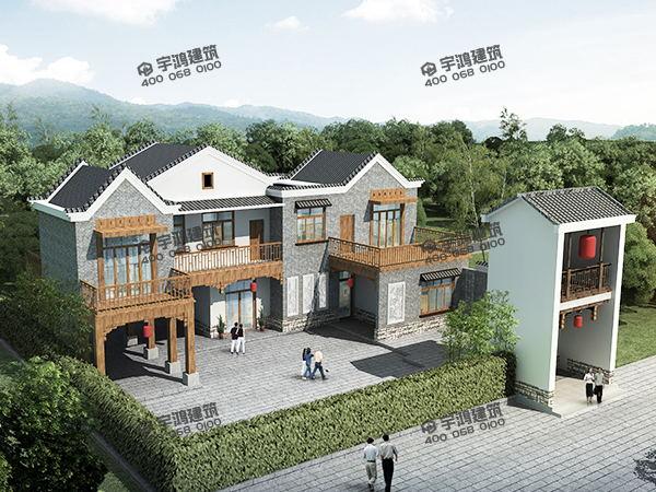 170平二层农村自建小四合院设计图纸及效果图,中式复古有内涵