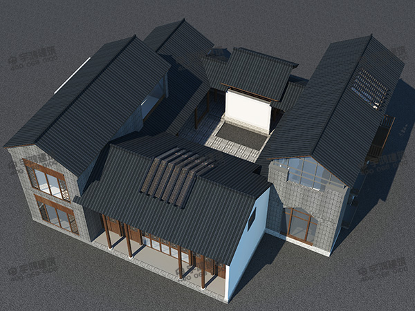 240平方米农村四合院别墅设计图及效果图,精挑细选的户型,品味四合院的美