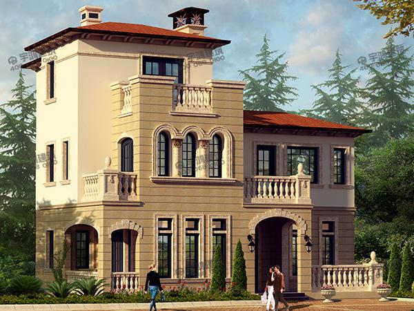 70后大叔回乡建带游泳池的农村别墅,13.5x15.5米户型设计图,比在城里买房划算