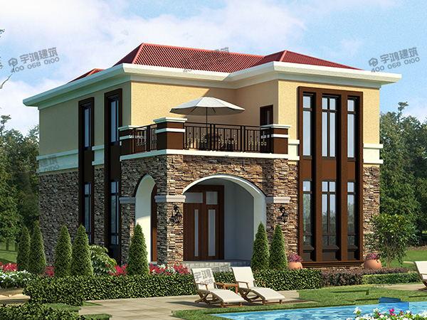 小面积的两层自建农村别墅设计图,户型好看,造价不到20万