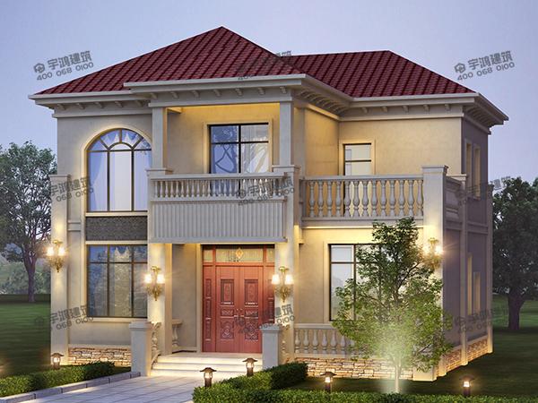 简单又好看的农村15万元二层别墅小楼设计图,回老家盖房再适合不过的自建房户型