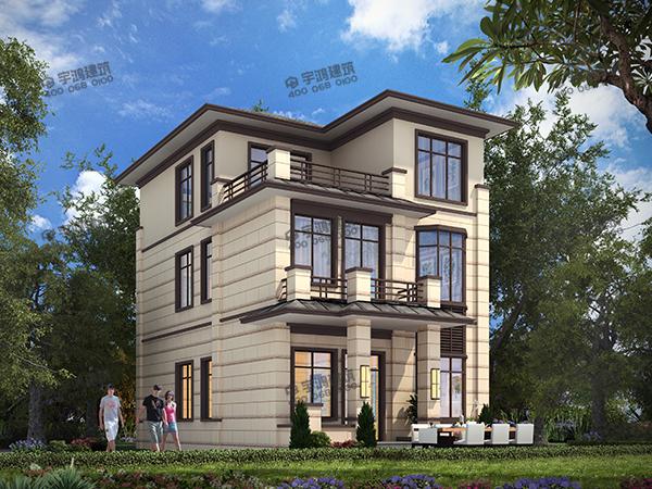 简单舒适的农村欧式别墅设计图,室内通透性好,主体造价低,是建房子的好选择