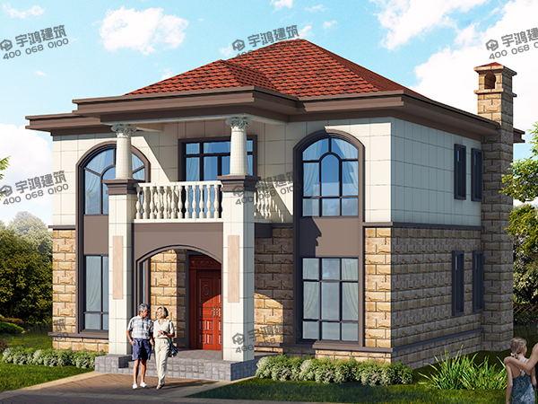 11x8米房子设计图,标准朴实的方正户型,造价低施工简单,特别适合农村自建