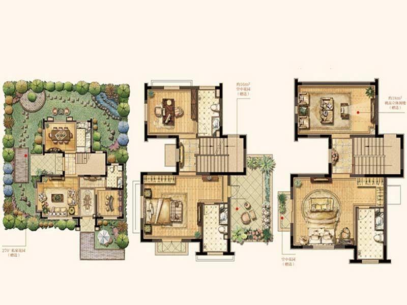 类独栋别墅户型图,类独栋别墅的这些特点你必须了解