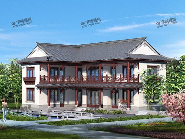 湖南张总私人定制的农村别墅设计效果图,完全复原了古代的中式美,获无数人称赞