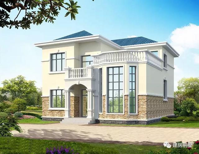 两栋外观很美的自建房别墅设计图纸,23-25万就能建其中一款