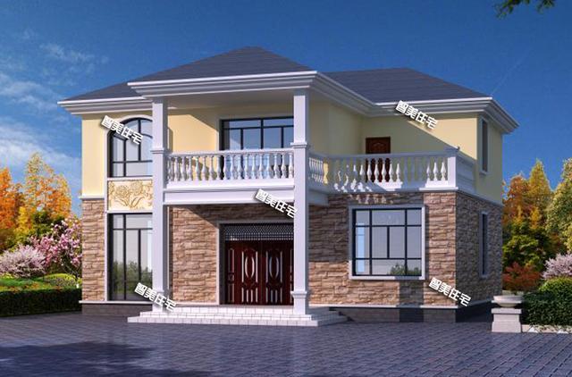 12.6×10米二层小别墅房屋设计图,简单方正实用,小家庭都爱建