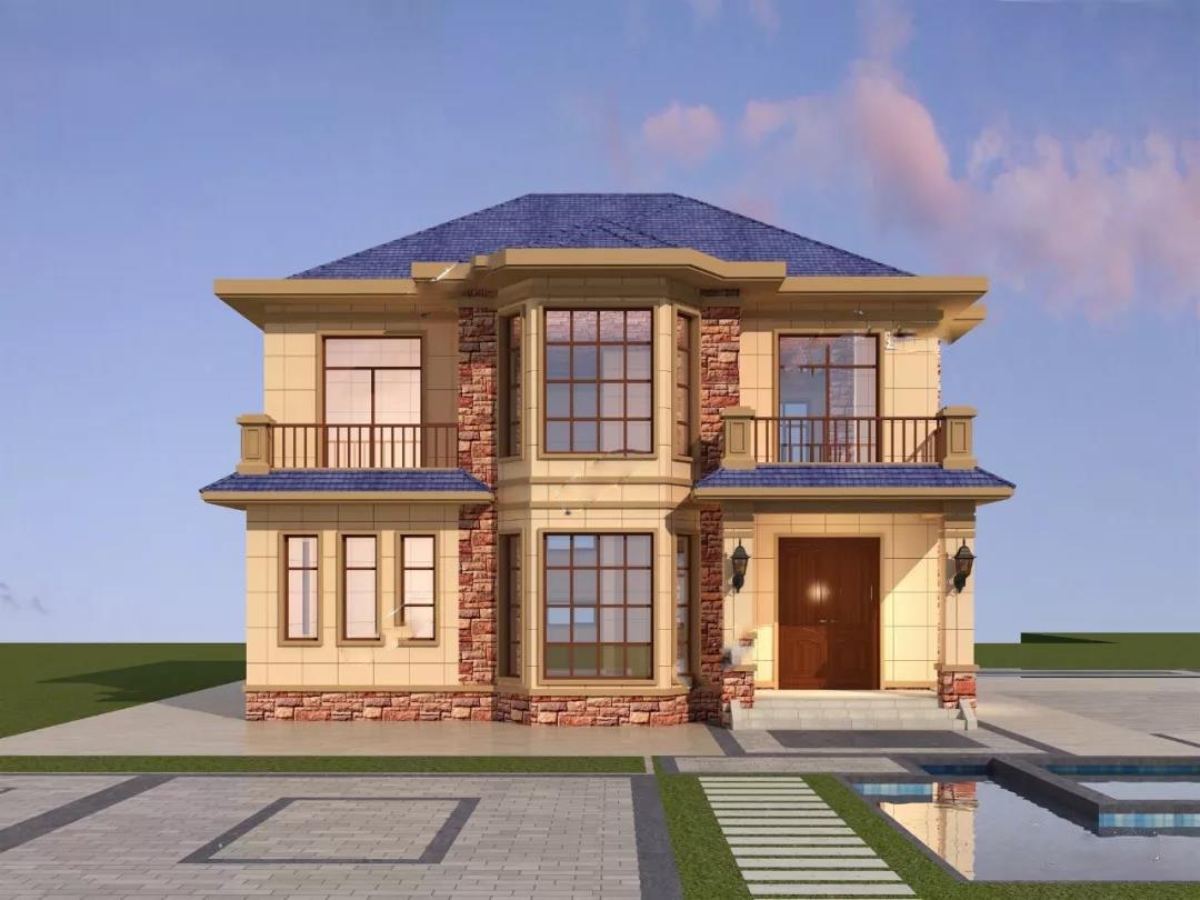 欧式别墅小二层的设计案例,建设工程量小,不用急着等了!