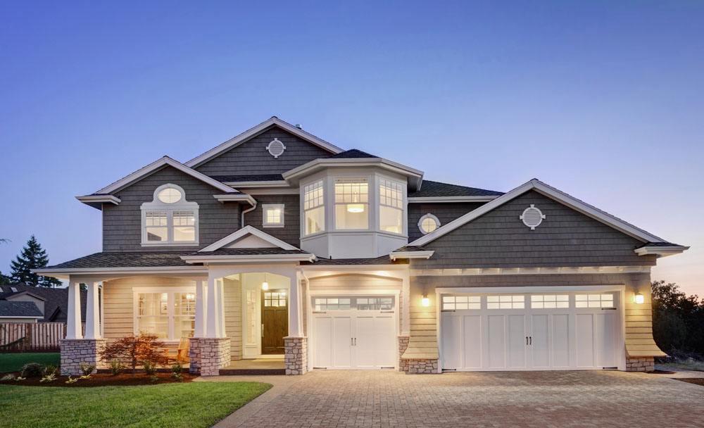 【新农村自建房】10米X10米东南亚风格小户型两层四室带车库别墅设计案例
