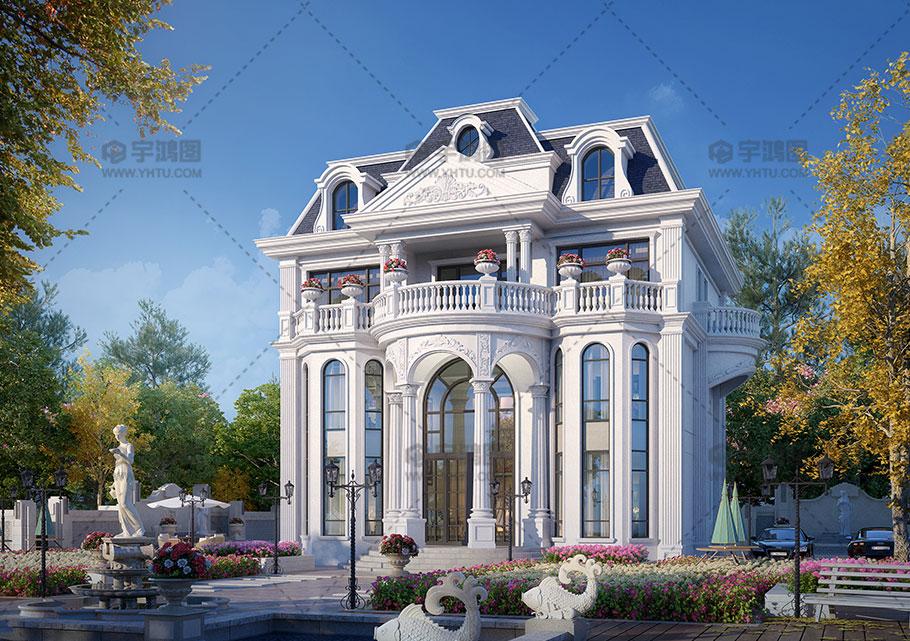 四层古典欧式别墅设计效果图