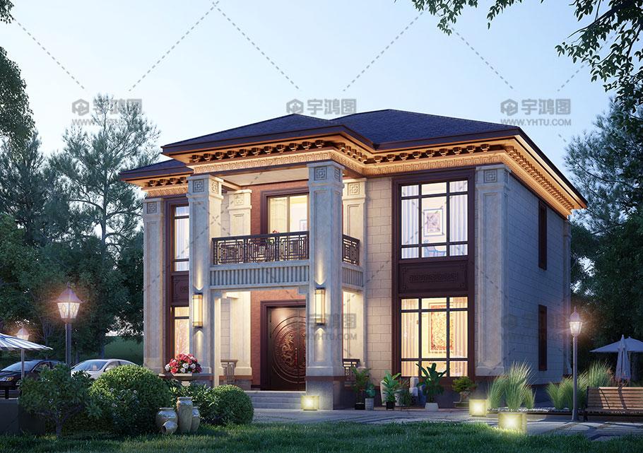 两层漂亮别墅设计效果图