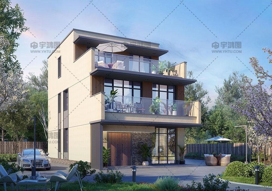 漂亮的三层别墅设计效果图