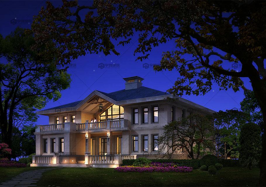 两层宜居欧式别墅设计效果图