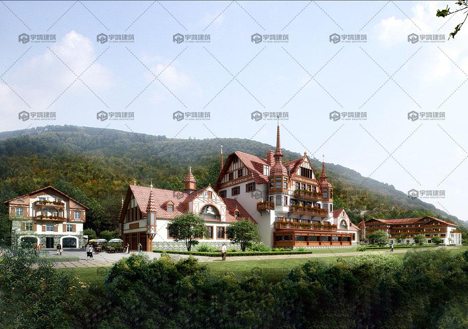 古典欧式豪华大别墅设计效果图