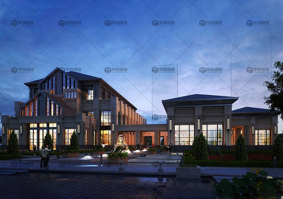 三层高端别墅设计效果图