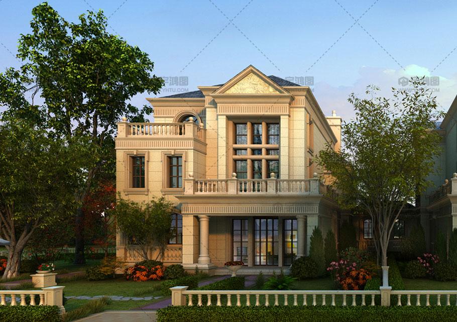 三层经典欧式别墅设计效果图