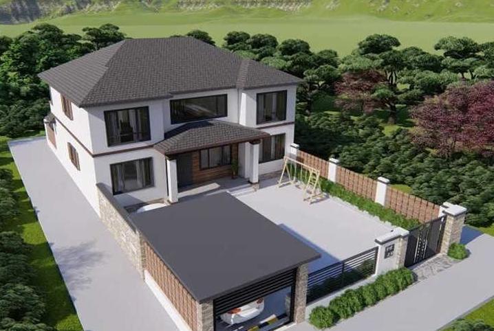 二层农村别墅设计-别墅设计-这块现代风二层别墅设计图低调内敛让人爱不释手!