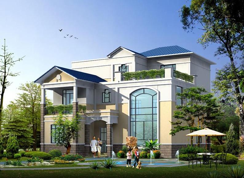 这款10万元就能搞定农村别墅设计图@你看!