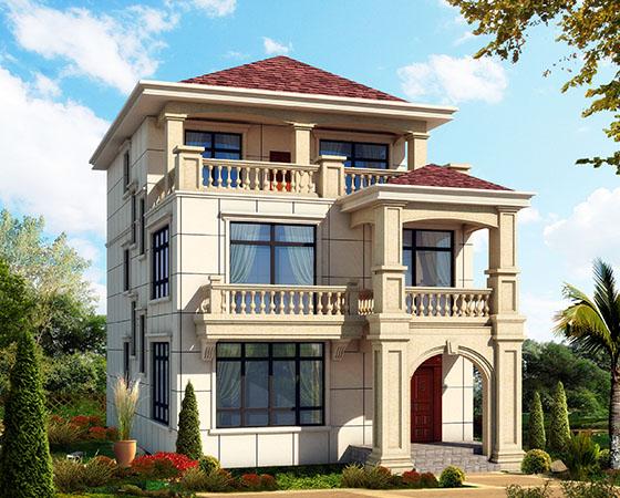 117平小开间三层欧式农村别墅设计图纸