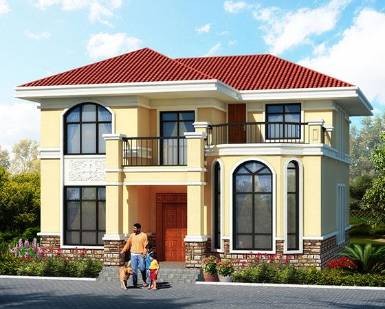 120平左右农村二层自建房设计图纸及外观效果图,漂亮舒适,早建早享受