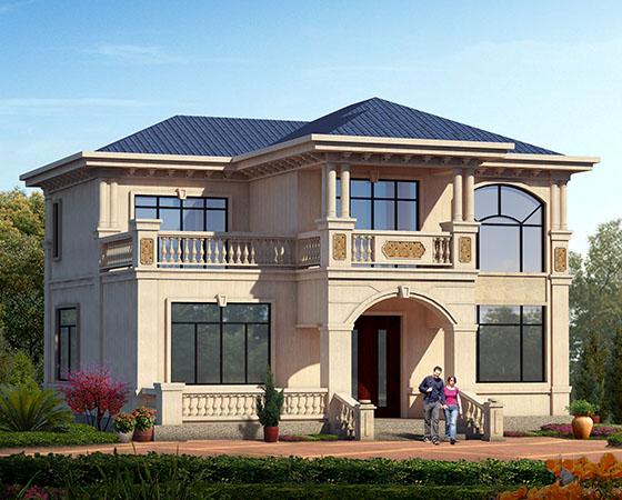 两层欧式农村经济型自建房屋设计图