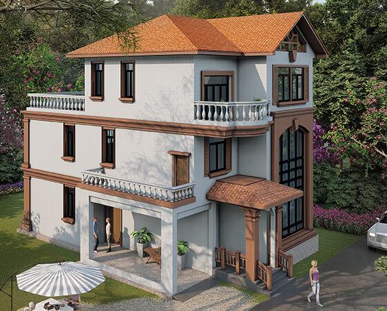 农村二层半别墅20万元能建好,现在都流行这么建