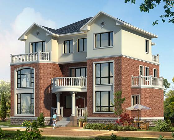 18x12米复式三层自建房设计图纸