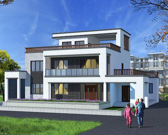 18x14米现代风农村别墅设计图纸